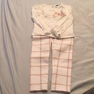 Janie & Jack cute pink gray 4T outfit